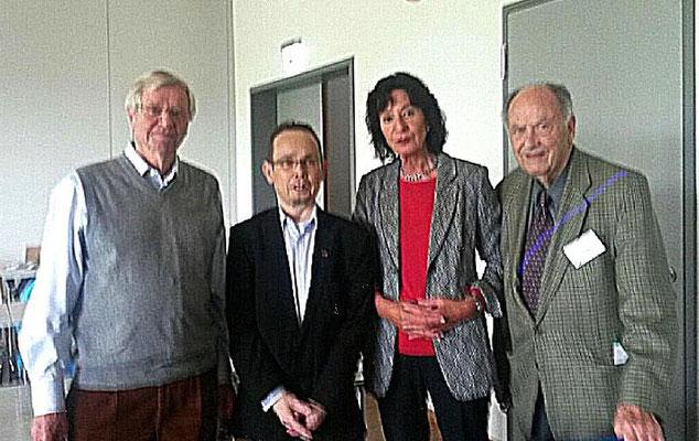Mein Behandlungsteam der Anfangszeit in Heidelberg. Vl. Prof. Dr. Otto Mehls, Dipl. Psychologin Evelyn Reichwald Klugger, Prof. Dr. Karl Schärer