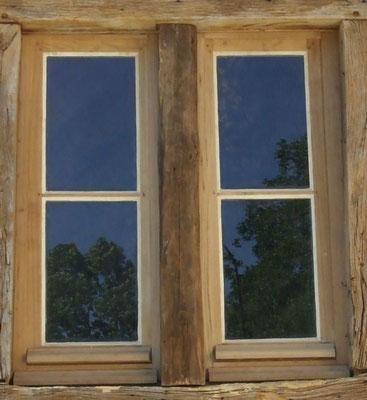 Fenêtre en rénovation Chêne sur encadrement Chêne