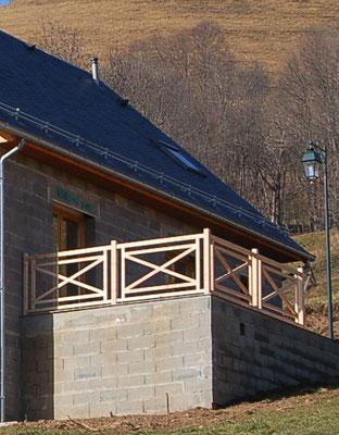 Extension de balcon, avec garde-corps