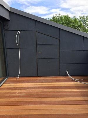 Fassadengestalltung mit Terrassenbelag