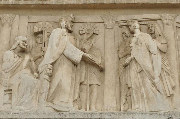 Esther se présente devant le roi Xerxès (basilique de Fourvières, Lyon)