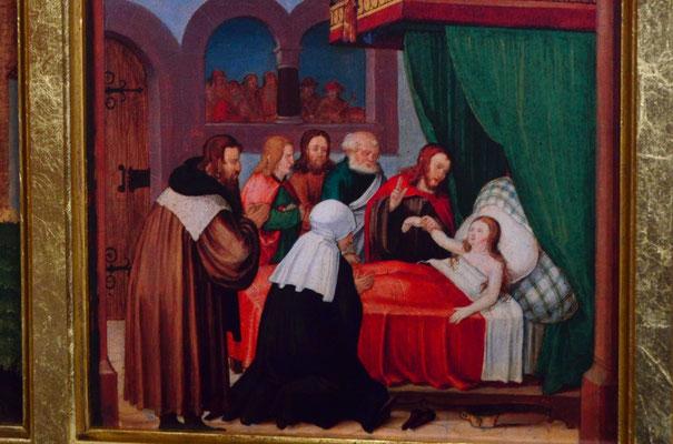Résurrection de la fille de Jaïrus (retable de Montbéliard, temple protestant de Montbéliard)