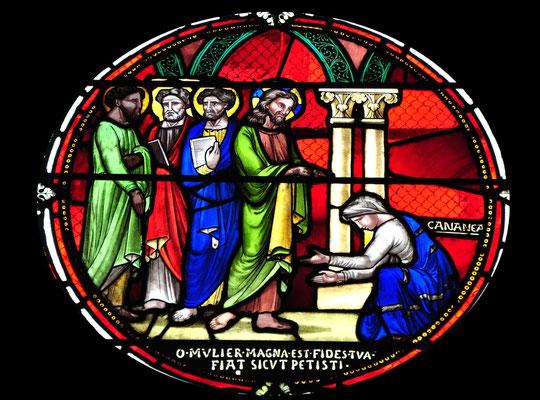 Jésus et la femme cananéenne, Basilique Notre-Dame du Port, Clermont-Ferrand