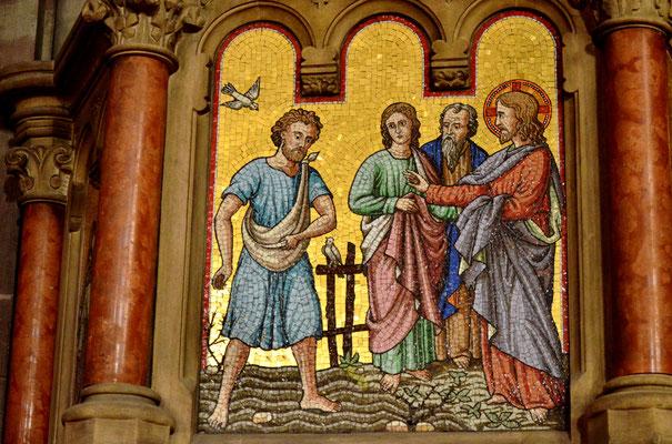Jésus raconte la parabole du semeur (église Saint-Pierre-le-Jeune, Strasbourg)