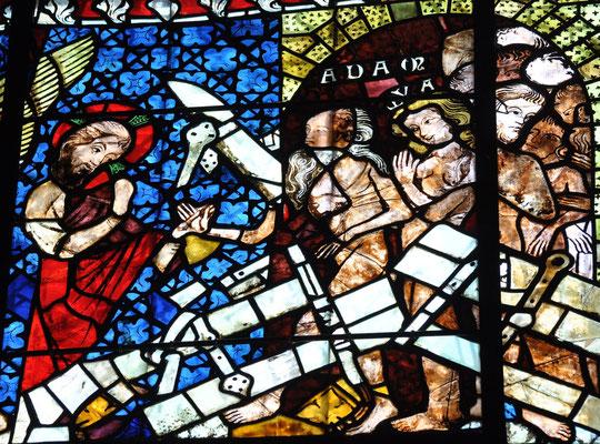 Jésus fait sortir Adam et Eve de l'enfer, Cathédrale de Strasbourg