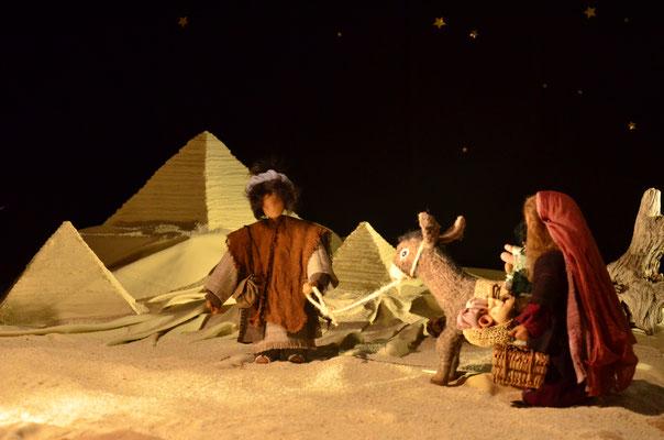 Fuite en Egypte  (exposition à la collégiale St-Martin à Colmar, décembre 2017)