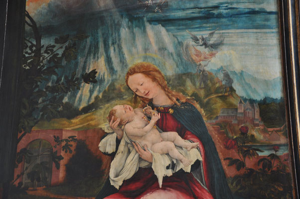 Naissance de Jésus (retable de Mathias Grunewald, Musée d'Unterlinden, Colmar)