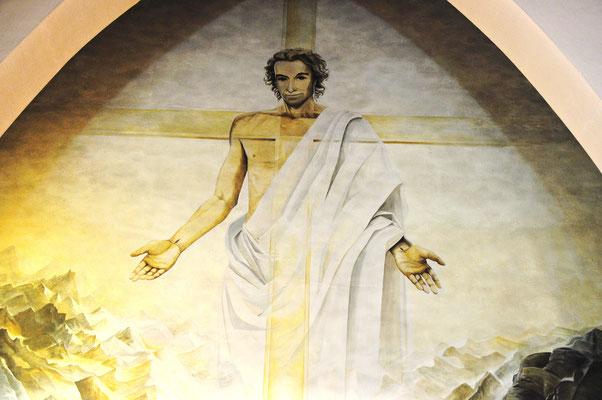 Jésus-Christ, vivant pour toujours (église de Saint-Lary, Hautes-Pyrénées)