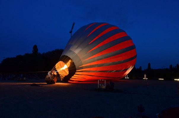 Prêt à partir en montgolfière