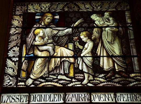 Jésus accueille les petits enfants, église du Rédempteur, Bad Homburg, Allemagne