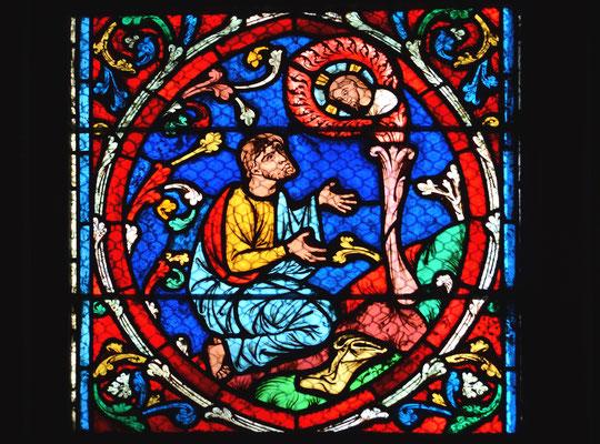 Moïse entend Dieu lui parler dans un buisson ardent, Notre-Dame, Paris