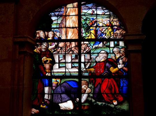 Elie défie les prêtres de Baal au mont Carmel, église Saint-Etienne du Mont, Paris