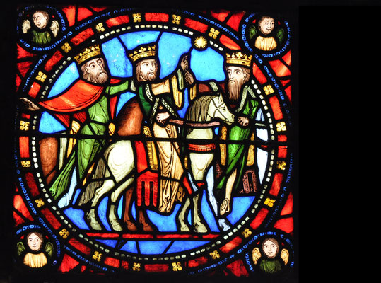 Voyage des mages, Basilique Saint-Denis