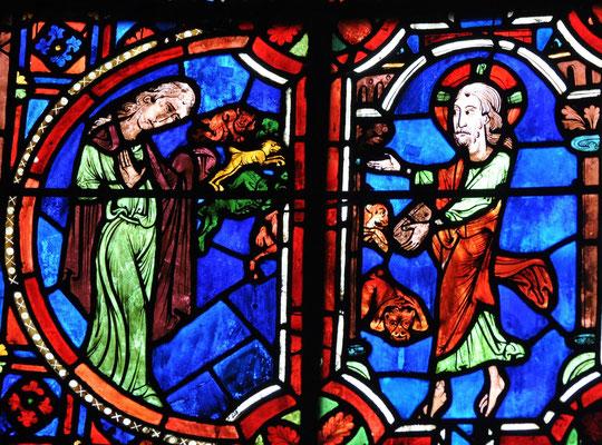 Jésus délivre Marie de Magdala de ses démons, Cathédrale de Bourges