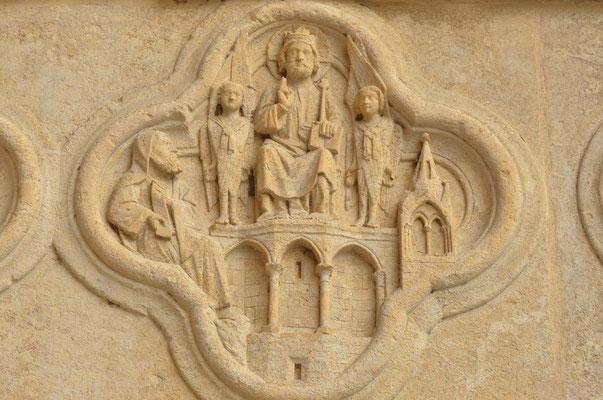 Le prophète Esaïe reçoit la vision de la gloire de Dieu (cathédrale d'Amiens)