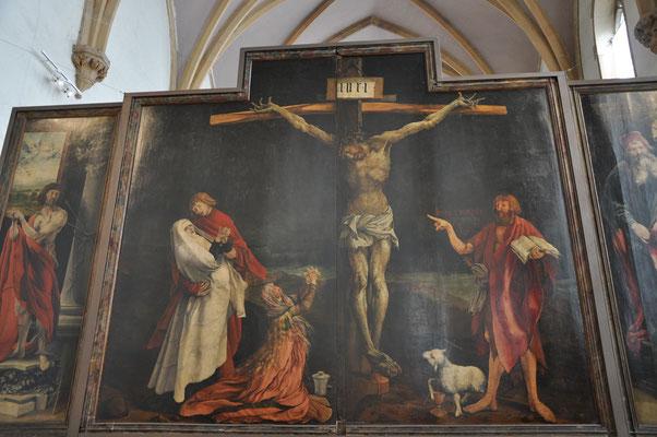 Mort de Jésus sur la croix (retable de Mathias Grunewald, Musée d'Unterlinden, Colmar)