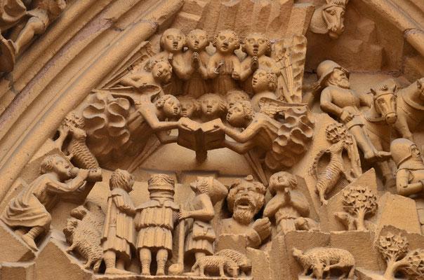 Annonce de la naissance de Jésus aux bergers (collégiale de Thann)