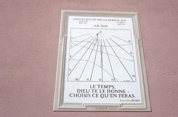 Cadran solaire du presbytère de Saint-Louis (Haut-Rhin)
