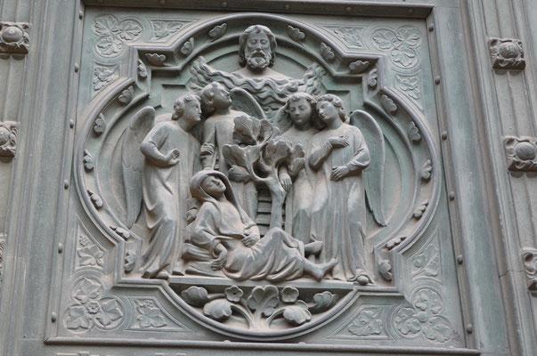 Jacob voit en rêve des anges sur une échelle (église Sainte-Ségolène, Metz)