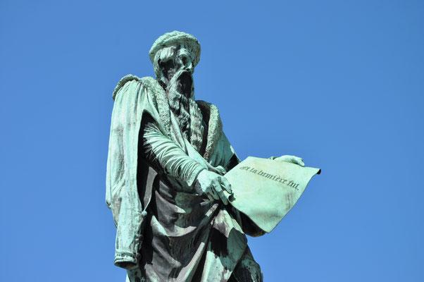 Gutenberg, imprimeur, inventeur de la presse typographique (1394-1468)