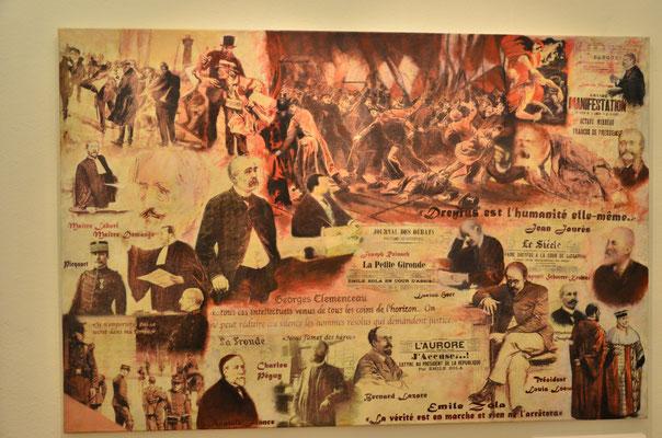 Evocation de l'affaire Dreyfus (musée historique de Mulhouse)
