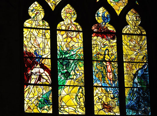 Vitrail de la Création de Marc Chagall, Cathédrale de Metz