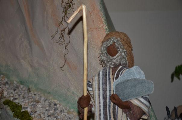 Moïse reçoit les dix commandements (exposition dans l'église évangélique de Weil am Rhein, Allemagne, novembre 2014)