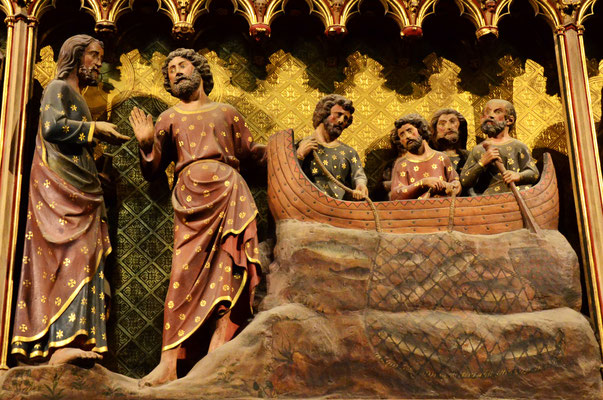 Jésus ressuscité apparaît à ses disciples près du lac de Tibériade (cathédrale Notre-Dame, Paris)