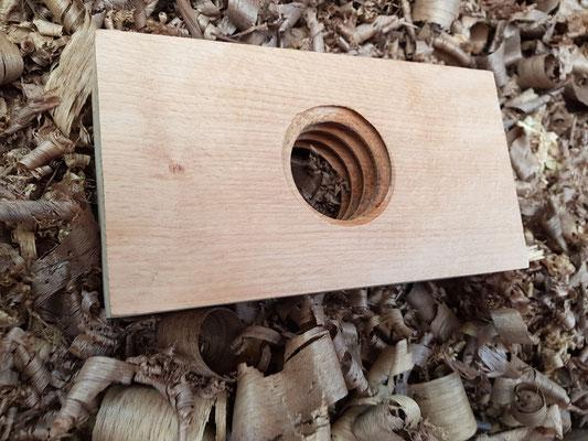 Wooden thread. wooden nut. Bench vise. Hobelbank.
