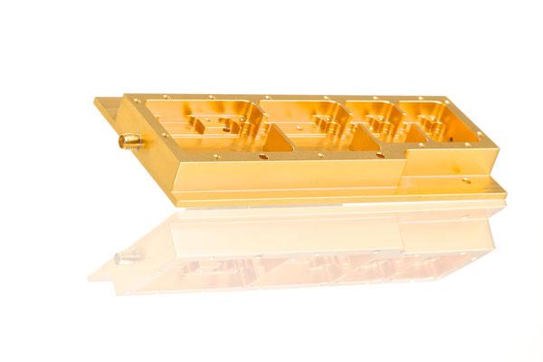 Aluminium gelb-chromatiert; ca. 140x70x20mm