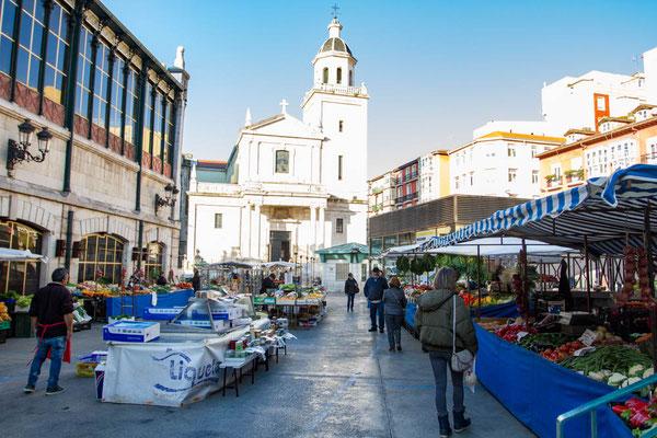 Santander farmers market Spain