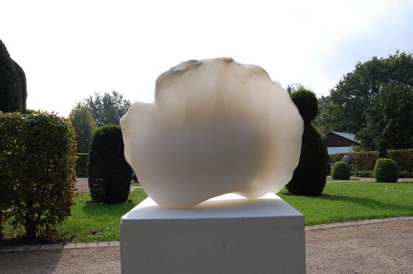 """E-motion"" - 2009, 30x25cm, Alabaster"