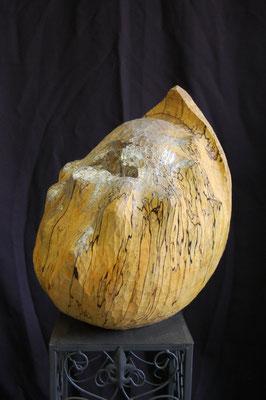 """""""Egg"""" ca. 25x40cm, Birke, Silberfarbe"""