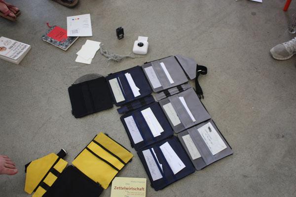 gemeinsam hergestellte Taschestruktur der gesammelten Workshopinhalte, Foto: Lilian Wieser