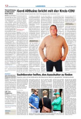 Oberhessische Presse- Öffentlichkeitsaktion zum Thema Smartphone