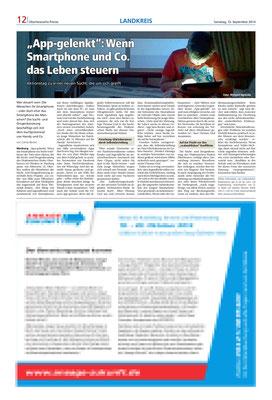 Oberhessische Presse- problematische Nutzung von Smartphones