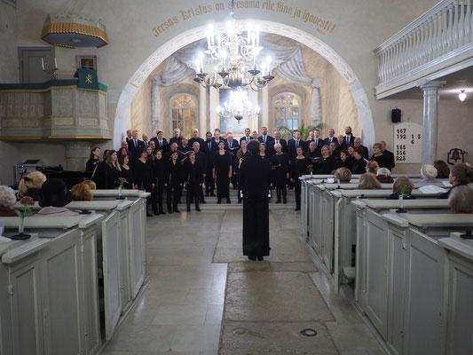 Konzert in Kuressaare, gemeinsam mit dem Männerchor SÜM