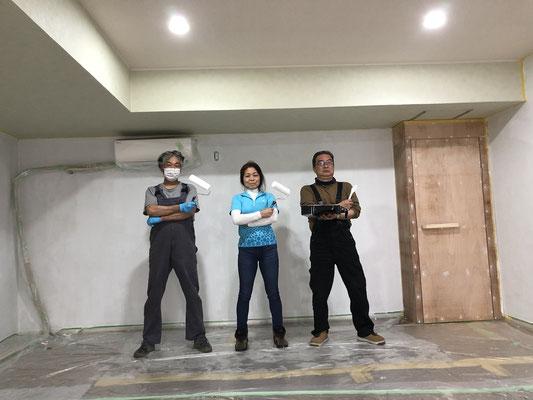 壁塗り三銃士