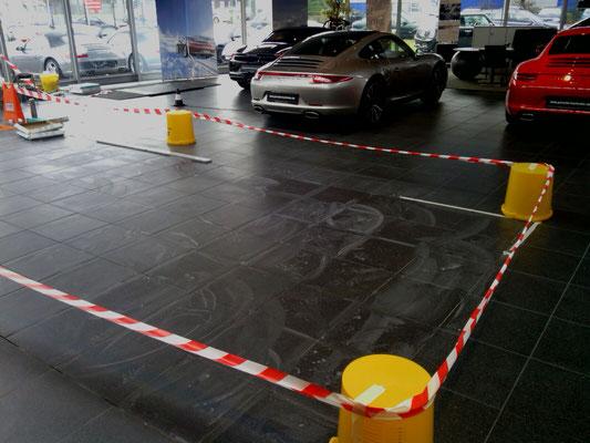 Fliesenarbeiten Porsche Zentrum Karlsruhe