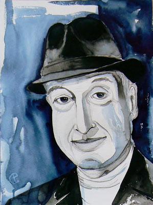 011 Saul Bellow - watercolour - 30 x 40 cm
