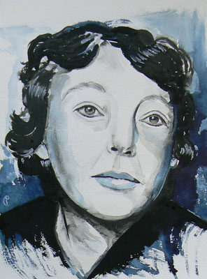 004 - Marguerite Duras - Watercolour - 30 x 40 cm