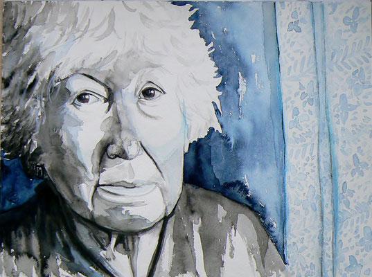 006 Penelope Fitzgerald - watercolour - 30 x 40 cm