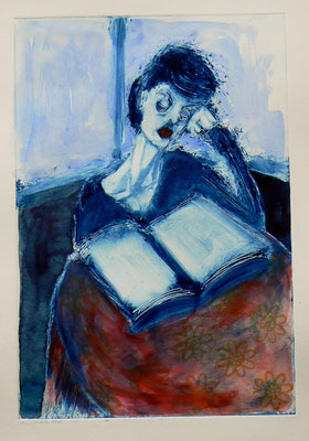 011 Monotype and watercolour - Untitled - 24,5 x 17 cm