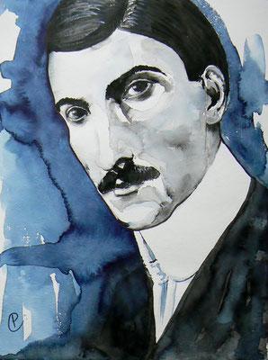 015 Stefan Zweig - watercolour - 30 x 40 cm
