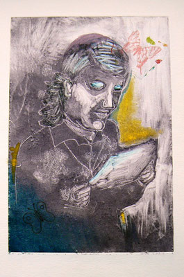021 - Monotype & Collage - 24,5 x 17 cm