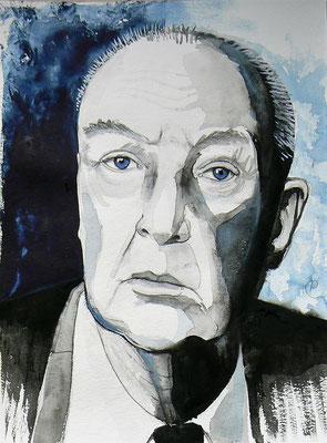 005 - Vladimir Nabokov - Watercolour - 30 x 40 cm