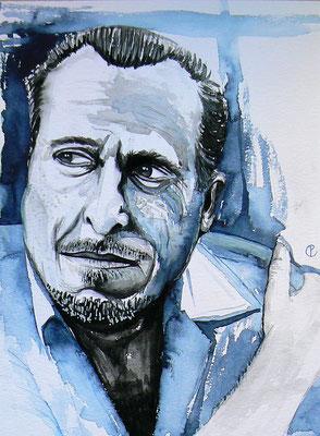 007 - Charles Bukowski - Watercolour - 30 x 40 cm