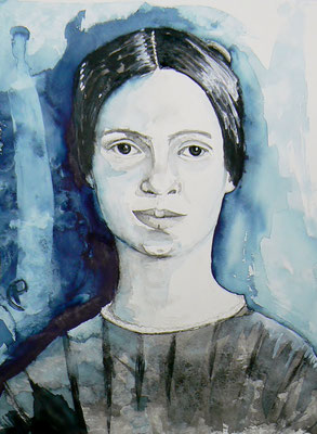 016 Emily Dickinson - watercolour - 30 x 40 cm