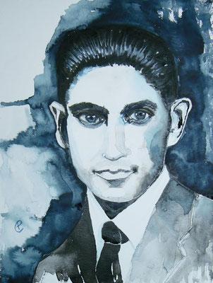 017 Franz Kafka - watercolour - 30 x 40 cm
