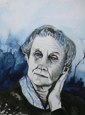 013 - Astrid Lindgren - Watercolour - 30 x 40 cm